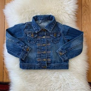 Girls Gap Cropped Denim Jacket